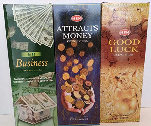 Incense & More Hem Attracts Money Good Luck GR Business Combo Pack (360 Sticks)