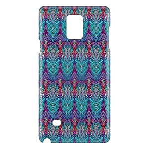 Loud Universe Samsung Galaxy Note 4 3D Wrap Around Hair Print Cover - Multi Color