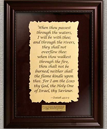 Framed scripture Isaiah 43:2-3 (Pictures Framed Christian)