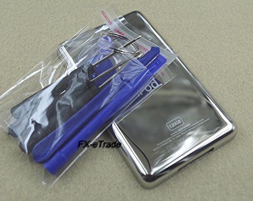Metal Back Rear Housing Case Cover Shell Backplate for Ipod 6th Gen Classic 120gb