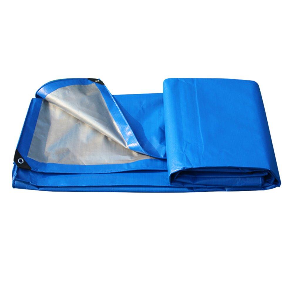 AJZGF Regenschutz Wasserdicht Regenschutz-LKW der Tarpaulinregenschirm-Schärpe, die im Garten Hohen Farbton Warmes Anti-Altern, Blau + Grau schattiert (Farbe   Blau+grau, größe   4x6M)