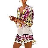 Womens Cover up Bohemia Tassel Swimsuit Beachwear Bikini Dress (A) White,...