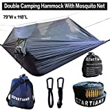 """Camping Hammock with Mosquito Net Largest 118""""X79"""" Extra Strong Ripstop Nylon Camping Hammock"""