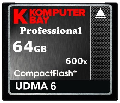 Komputerbay Professional - Tarjeta Compact Flash, 64GB, CF 600X, 90 MB/s, velocidad extrema UDMA 6 RAW