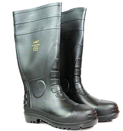 "LABO 15.5"" Mens Waterproof Winter Snow Rain Rubber Boots Slip-Resistant (M.d) 1"