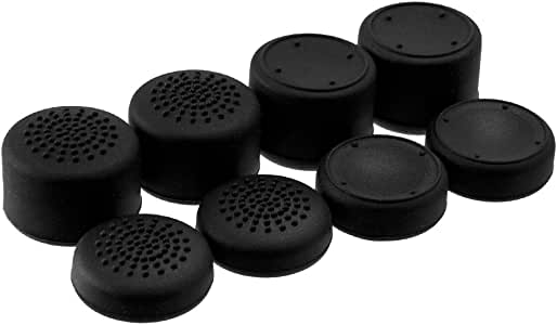 AceShot Thumb Grips (8pc) for Xbox One (Series X, S) by Foamy Lizard – Sweat Free 100% Silicone Precision Raised Antislip Rubber Analog Stick Grips For Xbox One Controller (8 grips) BLACK
