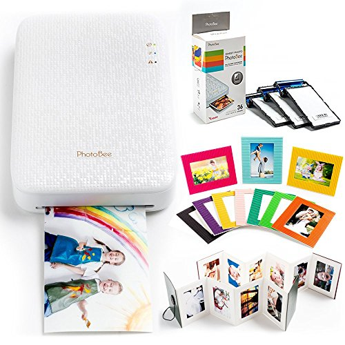 er Family Package - White (with 48 Sheets of Sticky Backed Photo Paper, 2 Folding Albums, 10 Corrugated Cardboard Photo Frames) (Printer Package)
