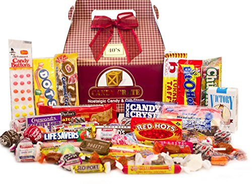 Candy Crate 1940's Decade Candy Gift Box - Over 2 Pounds of (Christmas Candy Gift Box)