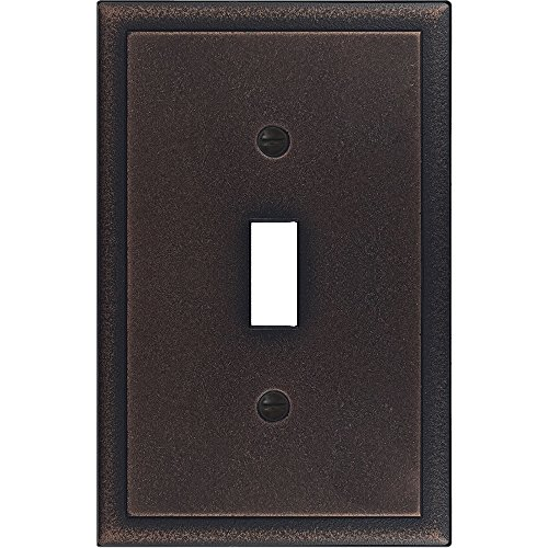 Questech Ambient Satin Metal Composite Switch Plate/Wall Plate/Outlet Cover (Single Toggle, Oil Rubbed Bronze) ()