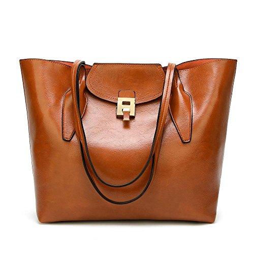 las tamaño bolso messenger señoras manera de bolso de Penao 33cmx14cmx32cm la hebilla Brown la de Solo wA8qWp