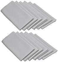LinenTablecloth 20-Inch Polyester Napkins (1-Dozen) Silver