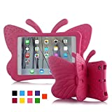 iPad Mini 2 Case, UCMDA Light Weight Children Shockproof Protection Cover with Butterfly