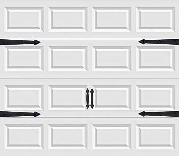 Mga resulta ng larawan para sa decorative faux hinges HANDLES for garage doors gif (6-piece set)