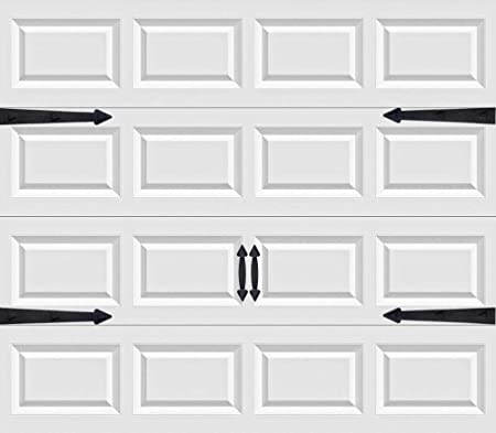 """Set of 4 Garage Door Decorative Hinges 16/"""" Black"""