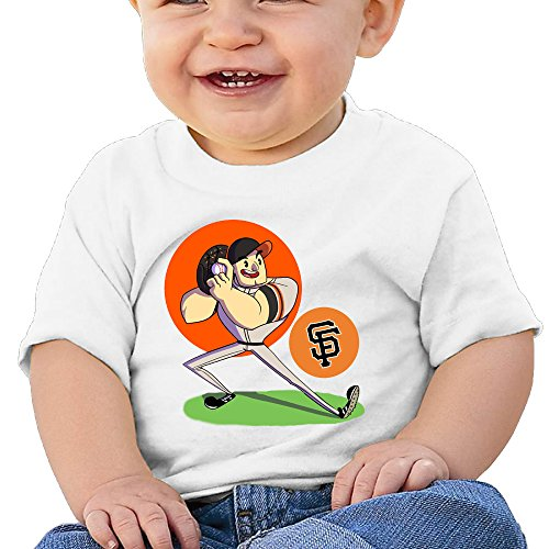 Boss Seller San Francisco Team Short Sleeve T Shirts For 6 24 Months Infant Size 24 Months White
