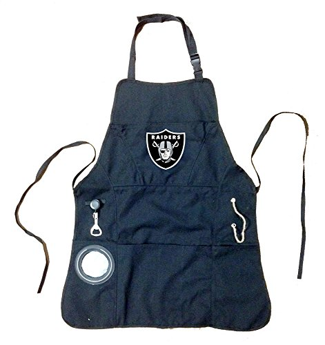 - Team Sports America Ultimate NFL Tailgate Grilling Apron, Oakland Raiders