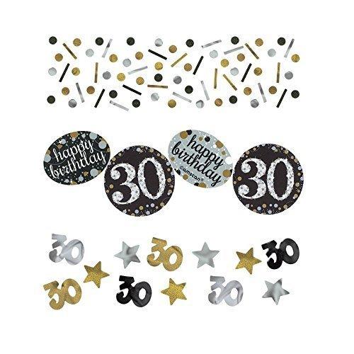 Amscan 360187 Sparkling Celebration 30 Confetti, Multi Color