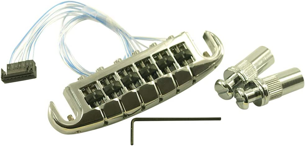 Nickel PN-8593-N0 Graph Tech Ghost loaded Resomax NW1 Wraparound Bridge