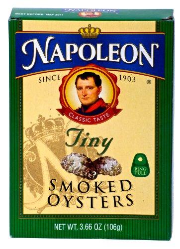 Napoleon TINY SMOKED OYSTERS 3.66oz (3 Pack)