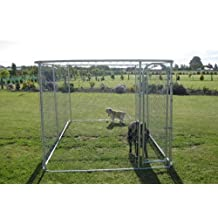 ALEKO® Dog Kennel 13' x 7 1/2' x 6' DIY Box Kennel Chain Link Dog Pet System