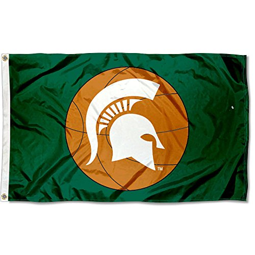 College Flags and Banners Co. Michigan State Spartans Basketball Flag