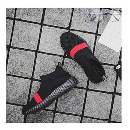 Noir En Chaussures Chaussette Lumire Qianliuk Jeunes Femmes Air Plein Sport Jogging De Estivale Baskets Top Rouge Course Tendance B Haut ng4TqY5P4