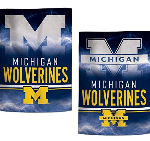 WinCraft NCAA Garden Flags 2 Sided 12. 5 x 18 Inches (Michigan ()