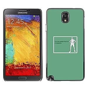 Qstar Arte & diseño plástico duro Fundas Cover Cubre Hard Case Cover para SAMSUNG Galaxy Note 3 III / N9000 / N9005 ( Threesome Funny Quote Art Sex Life People)
