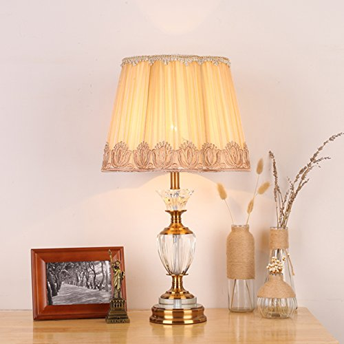 Garwarm Crystal Flower Table Lamps For Living Room Bedroom,3356CM/1322 Inch WH by Garwarm