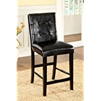 247SHOPATHOME Idf-3188BK-PC Dining-Chairs, Black