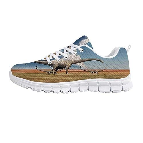Amazon.com: YOLIYANA Zapatos Deportivos Decoración Jurásica ...