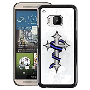 A-type Arte & diseño plástico duro Fundas Cover Cubre Hard Case Cover para HTC One M9 (Jesus Christ Snake Meaning Religion)