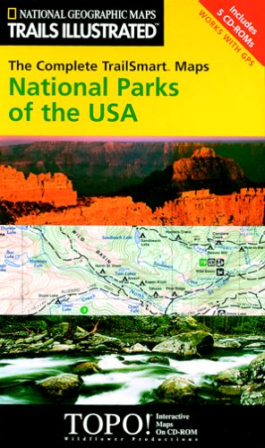 (National Geographic TrailSmart Complete National Park Topographical Map CD-ROM)