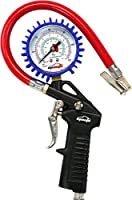 EPAuto Heavy Duty 120 PSI Tire Inflator Gauge with Hose and Quick Connect Coupler