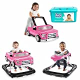 NEW! Bright Starts 3 Ways to Play Lights and Sounds Activity Baby Walker Ford F-150 in Pink with Hypoallergenic Baby Wipes