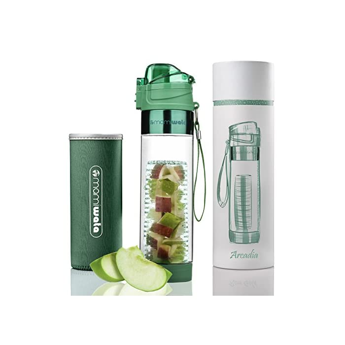 38533a9382 MAMI WATA Fruit Infuser Water Bottle – Beautiful gift box – Unique ...
