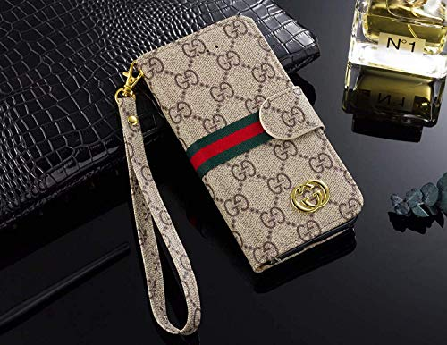 - Phone Case for Galaxy S9 Plus, Vintage Luxury Designer Monogram Fashion Style Flip Wallet Case Card Holder, Folding Stand Protective Cover for Galaxy S9 Plus