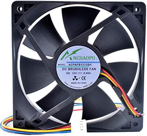 New ANCHAOPU AFB1212SH 12cm 12025 120mm fan 12V 0.80A 4 lines 4pin high speed server computer chassis power cooling fan