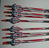 Gold Tip XT Hunter 5575/400 Carbon Arrows w/Blazer Vanes Flag Wraps 1Dz.
