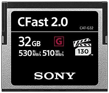 Sony 32 GB CFast 2.0 Profesional Flash Tarjeta de Memoria ...