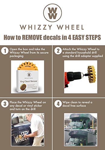 Whizzy Wheel Car Decal Remover With Drill Adapter Kit