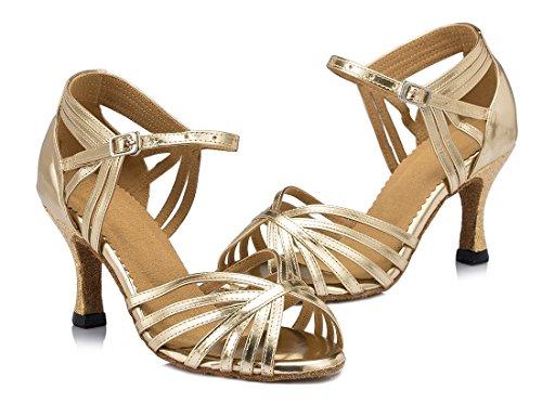 7 Donna MGM Ballerine Joymod Gold Heel EU 35 Light Oro 5cm xqYa1SnAwg