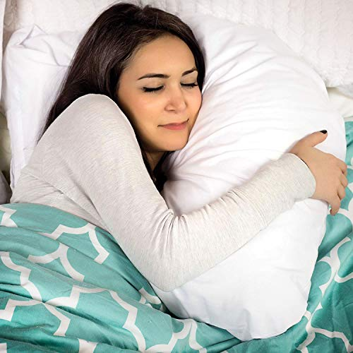 DMI U Shaped Contour Body Pillow Great for Side Sleeping, Neck Pain, Cervical Support & Pregnancy, Hypoallergenic with Machine Washable Cover