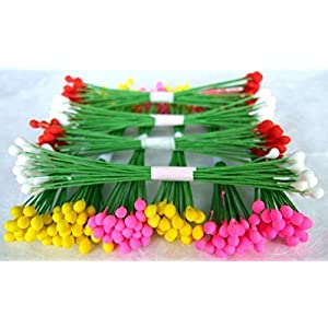 300 Stamen Pollen Flower Craft Artificial Scrapbook Floral Round Wire Stem Card 96