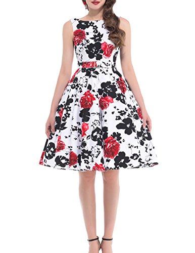 4 4 Mujer Para Vestido Estilo Floral Yafex fBwIUq0W