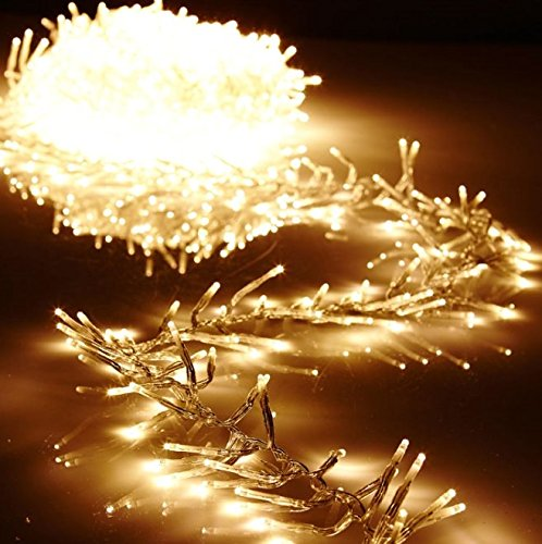 Christmas Cluster Lights 20 Foot Garland with 600 Warm White Lights on Clear Wire with Remote Control - Raz Exclusive by RAZ Imports