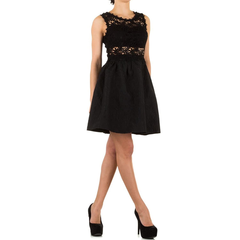 Damen Rackabilly Spitzen Cocktailkleid Abendkleid Gothic Pinup S-L ...