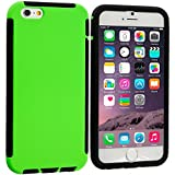 Cell Accessories For Less (TM) Black / Neon Green Hybrid Hard TPU Shockproof Case Cover With Built in Screen Protector for Apple iPhone 6 Plus (5.5) + Bundle (Stylus & Micro Cleaning Cloth) - By TheTargetBuys