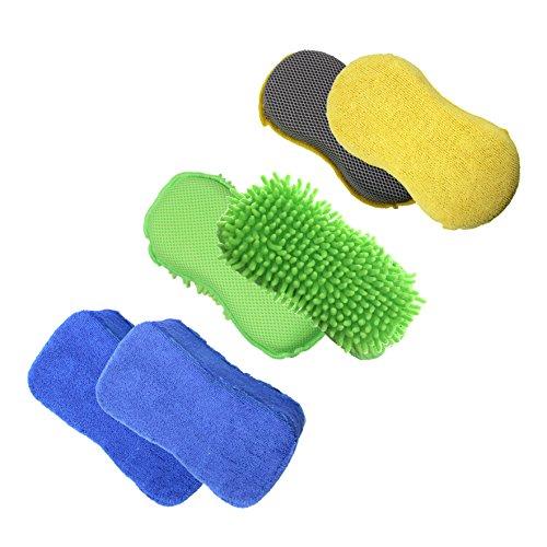 Juego de esponjas de microfibra para lavar el coche, 3 unidades