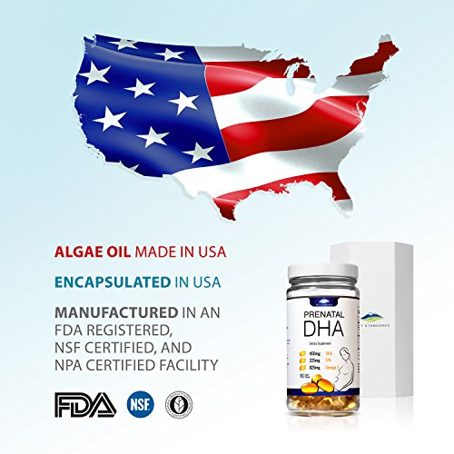 Diet Standards Prenatal DHA - Algae-Based = 100% Vegan Pills - Best Omega 3 DHA Supplement to Pair with Prenatal Vitamins for a Healthy Pregnancy - No Mercury: 3rd Party Lab Tested! by Diet Standards (Image #7)